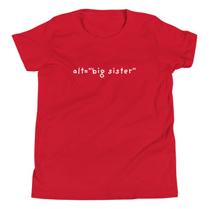 "alt=""big sister"" Youth T-Shirt"