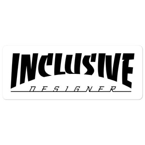 Inclusive Designer Sticker