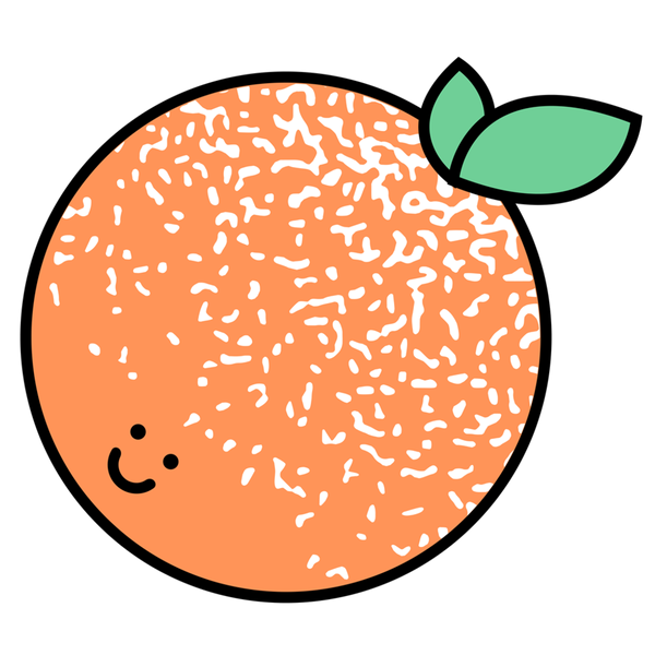cute little baby orange sticker