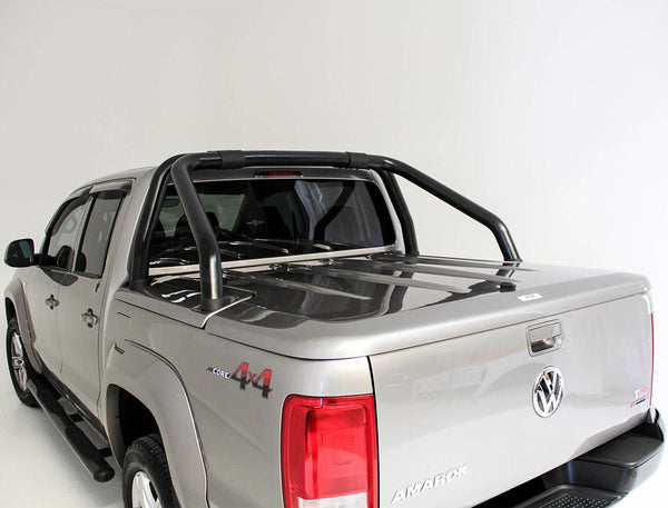 Volkswagen Amarok (2011 Onwards) Dual Cab with Factory Sports Bars Single Center Lock Premium Hard Lid