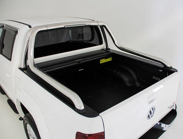 Volkswagen Amarok V6 Ultimate Canyon (2014 Onwards) Dual Cab with Factory Long Style Sports Bars Roll R Cover
