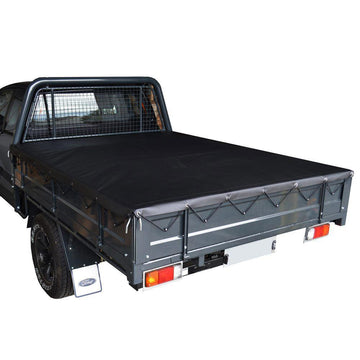 Rope Ute/Tonneau Cover for Custom Alloy/Steel Dropside Tray