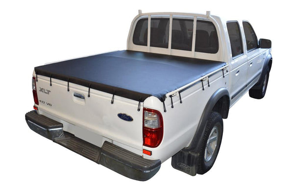 Ford Courier PE, PG, PH (1999 to 2006) Double Cab with Grab Rails Bunji Tonneau Cover