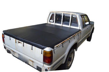 Ford Courier PC, PD (1985 to 1998) Super Cab with Headboard and Grab Rails Bunji Ute/Tonneau Cover