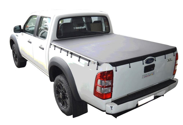 Ford Ranger PJ, PK (2007 to Oct 2011) Double Cab with Grab Rails Bunji Tonneau Cover
