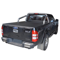 Ford Ranger PJ XLT, PK XLT (2007 to Oct 2011) Super Cab with Factory Sports Bars Bunji Tonneau Cover