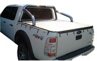 Ford Ranger PJ XLT, PK XLT (2007 to Oct 2011) Double Cab with Factory Sports Bars and Grab Rails Bunji Tonneau Cover
