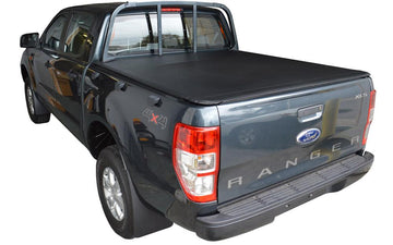 Ford Ranger PX I (Nov 2011 to May 2015) Double Cab with Straight Headboard ClipOn Tonneau Cover