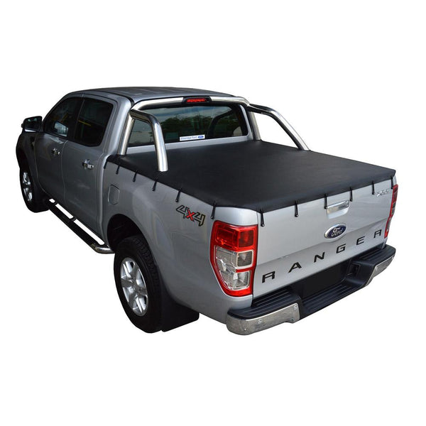 Ford Ranger PX I XLT (Nov 2011 to May 2015) Double Cab with Factory Sports Bars Bunji Tonneau Cover