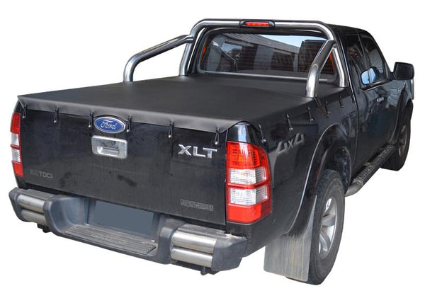 Ford Ranger PX I XLT (Nov 2011 to May 2015) Super Cab with Factory Sports Bars Bunji Tonneau Cover