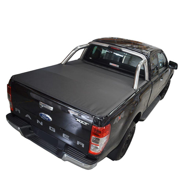 Ford Ranger/Raptor PX II XLT, PX III XLT (June 2015 Onwards) Super Cab with Factory Sports Bars ClipOn Tonneau Cover