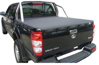 Bunji Ute/Tonneau Cover for Great Wall V200, V240 (2009 to 2015) Dual Cab suits Factory Sports Bars and Headboard
