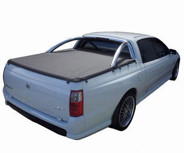 Holden Crewman VU, VY, VZ (2001 to 2007) Crew Cab with Factory Sports Bars ClipOn Tonneau Cover