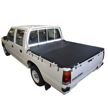 Holden Rodeo TF (1988 to 1996) Crew Cab with Headboard and Grab Rails Bunji Ute/Tonneau Cover