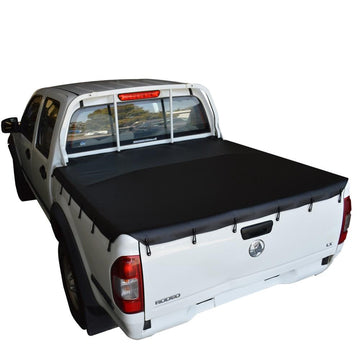 Holden Rodeo/Colorado RA, RC (2003 to June 2012) Crew Cab with Headboard Bunji Tonneau Cover
