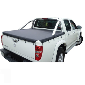 Holden Rodeo/Colorado RA, RC (2003 to June 2012) Crew Cab with Factory Steel Sports Bars Bunji Ute/Tonneau Cover