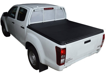 ClipOn Ute/Tonneau Cover for Holden Colorado RG (July 2012 Onwards) Crew Cab suits Headboard and Over Rail Tub Liner