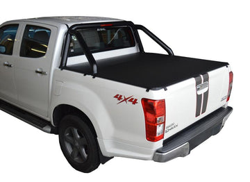 Isuzu D-Max (July 2012 Onwards) Crew Cab with Factory Sports Bars ClipOn Tonneau Cover