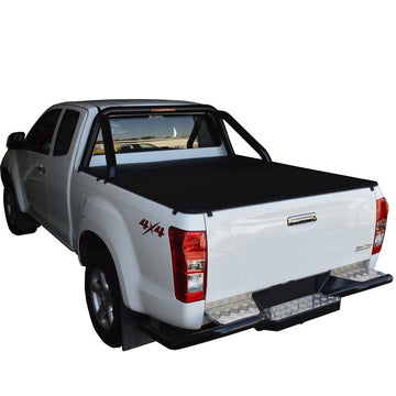 Isuzu D-Max (July 2012 Onwards) Space Cab with Factory Sports Bars ClipOn Tonneau Cover