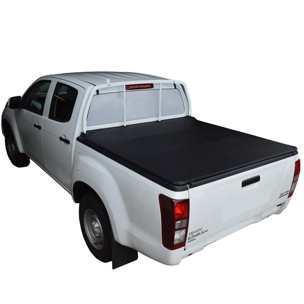 Isuzu D-Max (July 2012 Onwards) Crew Cab with Over Rail Tub Liner ClipOn Tonneau Cover