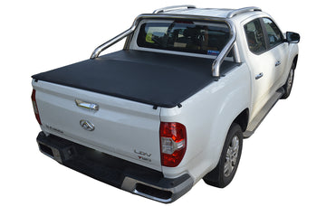 ClipOn Ute/Tonneau Cover for LDV T60 Luxe (2017 Onwards) Dual Cab suits Factory Sports Bars
