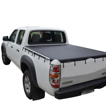 Mazda BT-50 (2007 to Oct 2011) Dual Cab with Grab Rails and Headboard Bunji Ute/Tonneau Cover