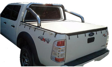 Mazda BT-50 (2007 to Oct 2011) Dual Cab with Factory Sports Bars and Grab Rails Bunji Ute/Tonneau Cover