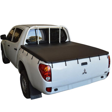 Mitsubishi Triton ML (2006 to Sept 2009) Double Cab with Headboard Bunji Ute/Tonneau Cover