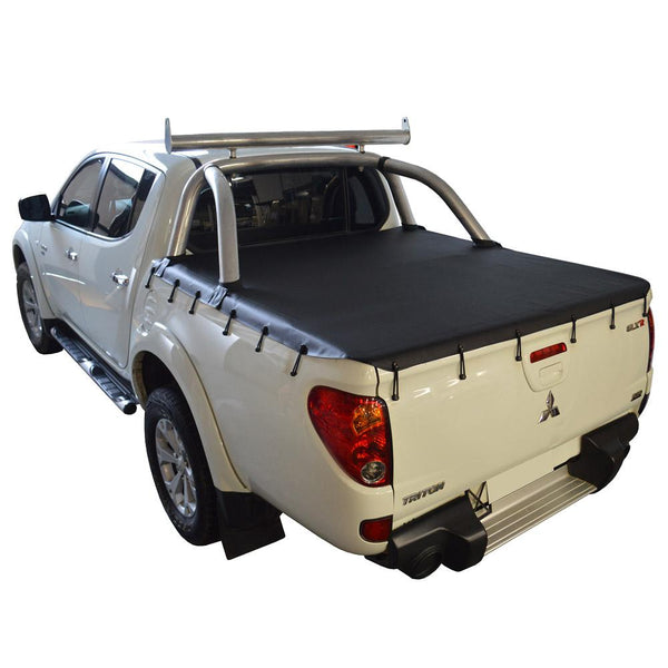 Mitsubishi Triton MN (Oct 2009 to June 2015) Double Cab with Factory Sports Bars Bunji Tonneau Cover