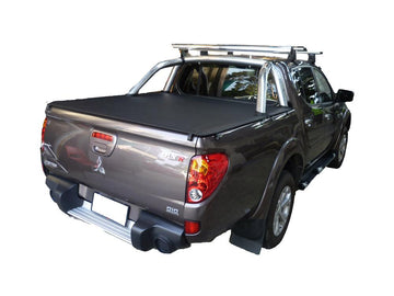 Mitsubishi Triton MN (Oct 2009 to June 2015) Double Cab with Factory Sports Bars ClipOn Tonneau Cover