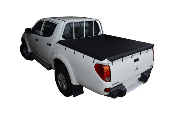 Mitsubishi Triton MN (Oct 2009 to June 2015) Double Cab with Headboard Bunji Tonneau Cover