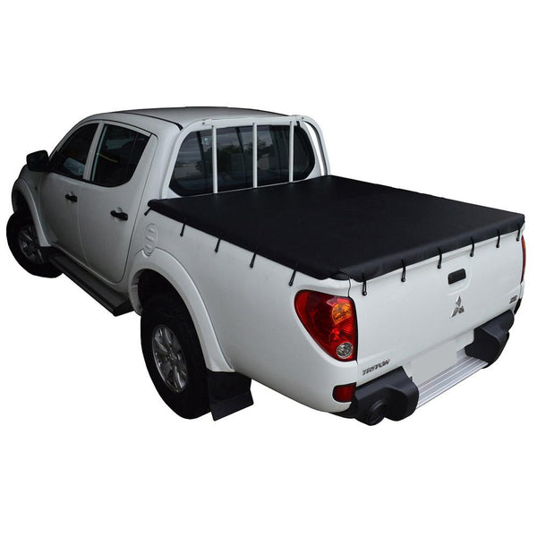 Mitsubishi Triton MN (Oct 2009 to June 2015) Double Cab with Headboard and Over Rail Tub Liner Bunji Tonneau Cover