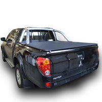 Mitsubishi Triton MN (Oct 2009 to June 2015) Double Cab with Factory Sports Bars and Headboard ClipOn Tonneau Cover