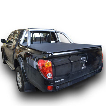 Mitsubishi Triton MN (Oct 2009 to June 2015) Double Cab with Factory Sports Bars and Headboard ClipOn Ute/Tonneau Cover