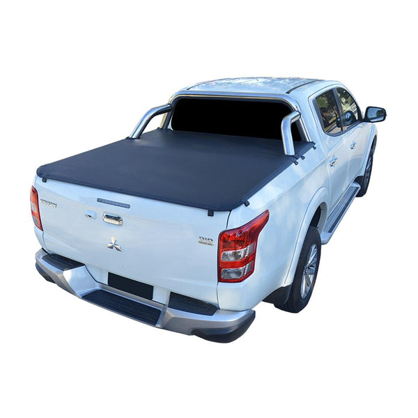 Mitsubishi Triton MQ, MR (May 2015 Onwards) Double Cab with Factory Sports Bars ClipOn Tonneau Cover
