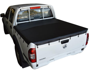 Nissan Navara D22 DX 4WD (Nov 2001 to 2005) Dual Cab with Headboard Bunji Ute/Tonneau Cover