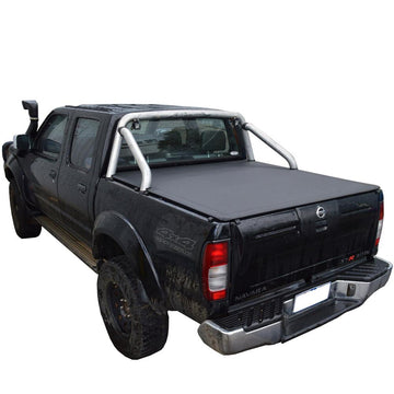 Nissan Navara D22 ST-R (Nov 2001 to 2008) Dual Cab with Factory Sports Bars ClipOn Tonneau Cover