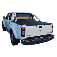 Nissan Navara D22 ST-R (2009 to June 2015) Dual Cab with Factory Sports Bars Bunji Tonneau Cover