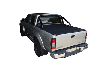 Nissan Navara D22 ST-R (2009 to June 2015) Dual Cab with Factory Sports Bars ClipOn Tonneau Cover