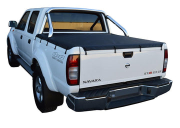 Nissan Navara D40 ST-X (Spanish Built)(2006 to 2008) Dual Cab with Factory Sports Bars Bunji Ute/Tonneau Cover