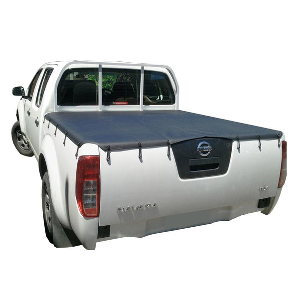 Nissan Navara D40 RX (Thai Built)(2009 to June 2015) Dual Cab with Headboard Bunji Tonneau Cover