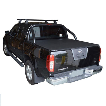 Nissan Navara D40 ST-X (Spanish Built)(2009 to June 2015) Dual Cab with Factory Sports Bars ClipOn Tonneau Cover