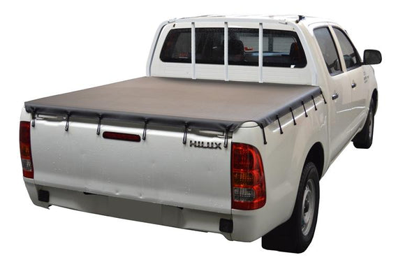 Toyota Hilux J-Deck (Apr 2005 to Sept 2015) Double Cab with Headboard Bunji Tonneau Cover