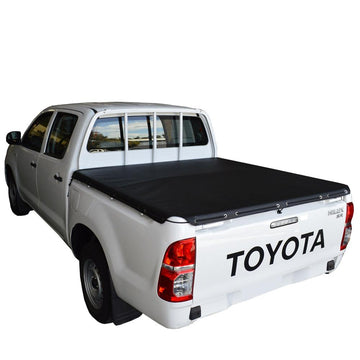 Toyota Hilux J-Deck (Apr 2005 to Sept 2015) Double Cab with Headboard Rope Tonneau Cover