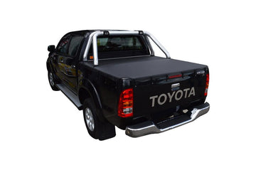 Toyota Hilux SR5 A-Deck (Apr 2005 to Sept 2015) Double Cab with Factory Sports Bars Bunji Ute/Tonneau Cover