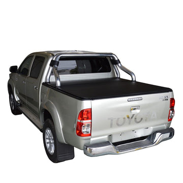 Toyota Hilux SR5 A-Deck (Apr 2005 to Sept 2015) Double Cab with Factory Sports Bars and Over Rail Tub Liner ClipOn Ute/Tonneau Cover
