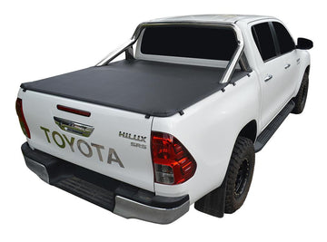 Toyota Hilux SR5 A-Deck (Oct 2015 Onwards) Double Cab with Factory Sports Bars ClipOn Tonneau Cover