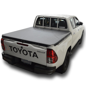 Toyota Hilux J-Deck (Oct 2015 Onwards) Double Cab with Headboard Rope Ute/Tonneau Cover