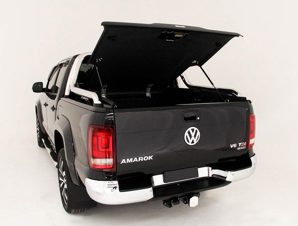 Volkswagen Amarok Ultimate Canyon (2014 Onwards) Dual Cab with Factory Long Style Sports Bars Single Center Lock Premium Hard Lid