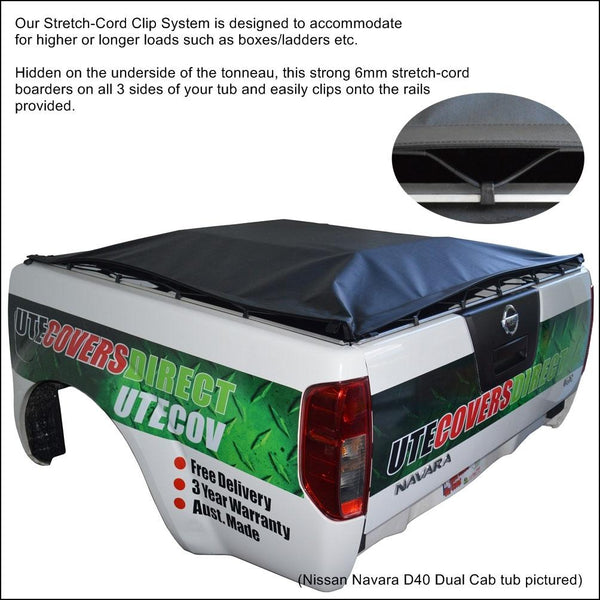 Great Wall V200, V240 (2009 to 2015) Dual Cab with Headboard ClipOn Tonneau Cover